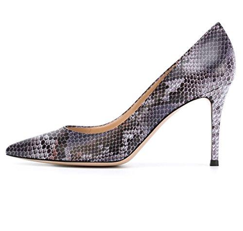 Soireelady Damen Bequeme Pumps,High Heels,Hoher Absatz,Python Purple Größe 44