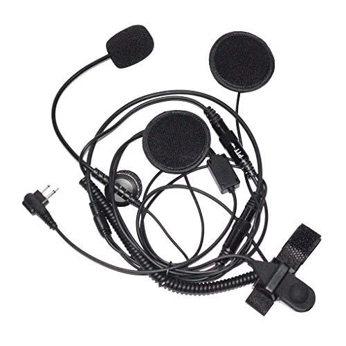 Sunlera Halber Gesichts-Motorrad-Fahrrad-Helm-Hörmuschel-Kopfhörer-Mikrofon-Zwei-Wege-Radio, 2-poligen Ersatz für CP100 GP88S Cp100-radio