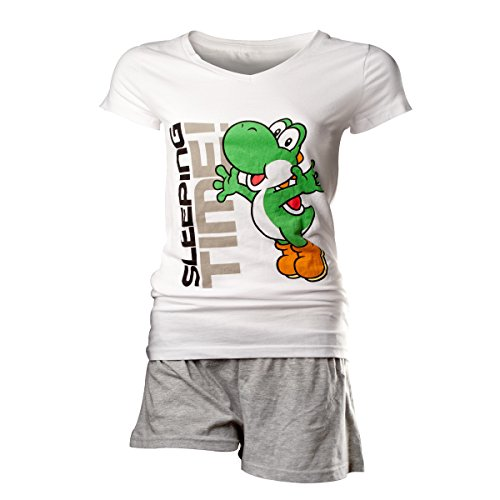 bioworld-t-shirt-nintendo-ensemble-short-et-t-shirt-yoshi-sleeping-time-coupe-femme-taille-m-8718526