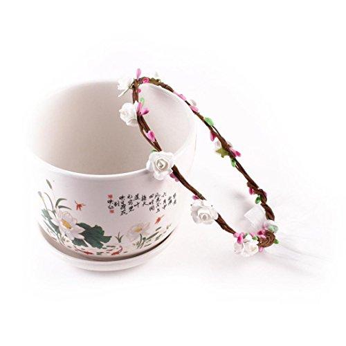kingko® Kinder Strick Kränze 15cm 5.9 Geeignet für 2~9 Jahre alte Kinder machen Ihr Baby voller Vitalität Weiß
