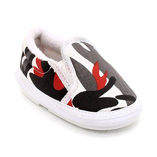 CHIU Chu-Chu Baby Boy's and Baby Girl's White Cotton Slip-on Shoes - 18-20 Months