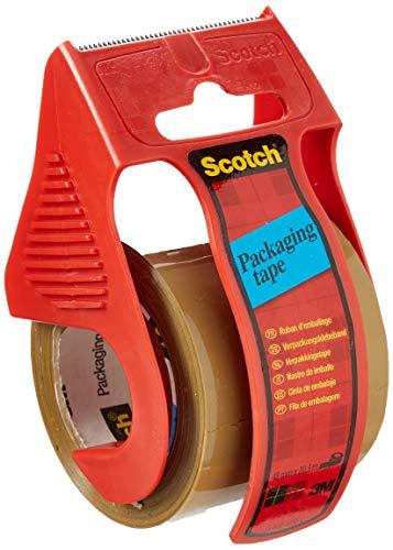 Scotch C5020D Verpackungsklebeband im Handabroller, 48 mm x 20,3 m, braun