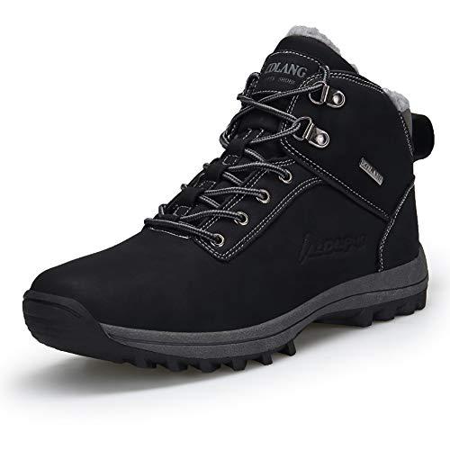 Uomo Stivali da Neve Inverno Impermeabili Scarpe da Escursionismo Trekking Outdoor Pelliccia Sneakers Nero Marrone 38-47