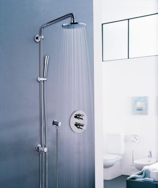 grohe syst me de douche rainshower 310 avec thermostat 27968000 import allemagne. Black Bedroom Furniture Sets. Home Design Ideas