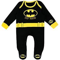 Batman - Pijama Entera para Niños Bebés - DC Comics Batman - 0 - 3 Meses