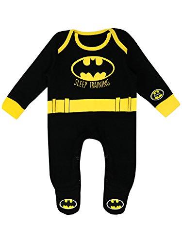 Lizenzierte Batman Kinder Kostüm - Batman Baby Jungen DC Comics Schlafstrampler