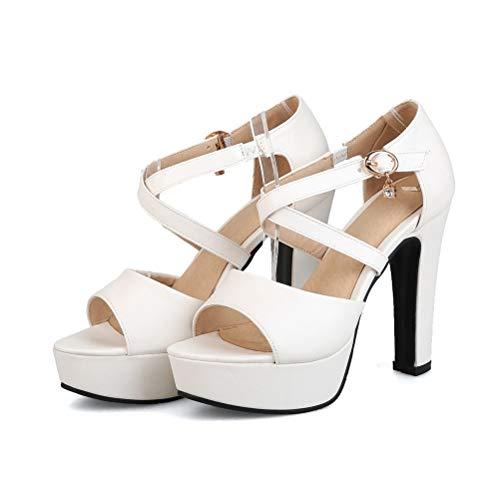 Frauen 15 cm Spike Heels Pumps Sommer Hohe Plattform Knöchel Kreuz Krawatte Peep-Toe Kleid Party Hochzeit Schuhe Femme Schnalle Sandalen - Frauen Erde-schuh-sandalen