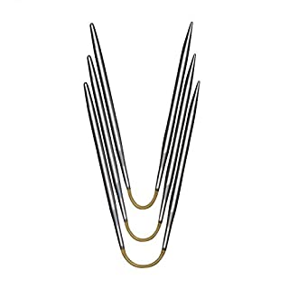 addi Crasy Trio Rundstricknadel 21 cm Stärke 2,5 mm, Metall, Hochglänzend