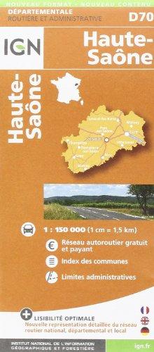 Haute-Saône dép 70 (Departement Maps) par Institut Géographique National