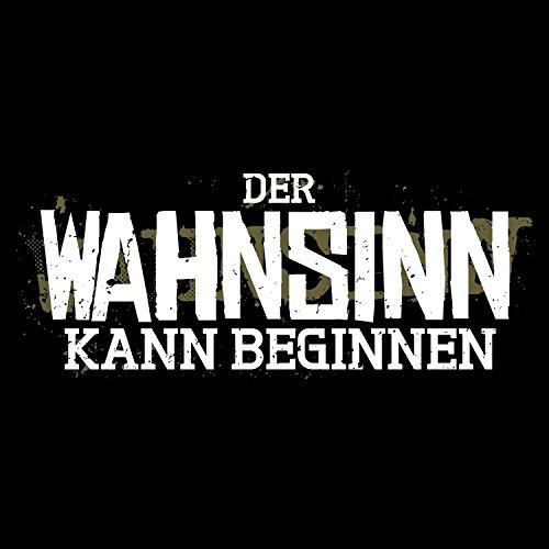 Fashionalarm Herren T-Shirt - Der Wahnsinn kann beginnen | Fun Shirt mit lustigem Spruch für Job Arbeit Beruf Schwarz