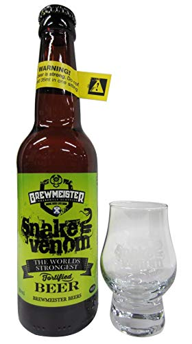 Brewmeister - Snake Venom World's Strongest Beer & FREE Branded Glass - Whisky