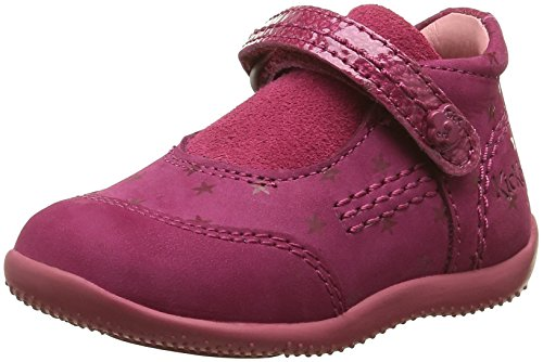 Kickers Binext, Chaussures Premiers Pas Bébé Fille, Rose (Fuchsia/Etoile), 21 EU