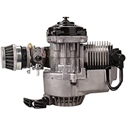 Ridgeyard 49CC Mini Moto 2 Stroke Engine Carb Filtre à air Head Mini moteur Dirt Bike Quad Pocket Bike