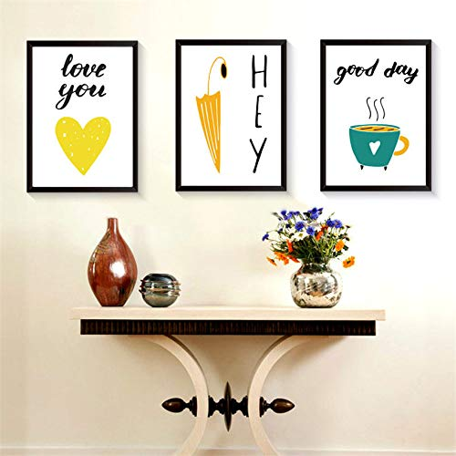 zxddzl Pintura de Dibujos Animados Paraguas corazón jardín de Infantes Sala de niños decoración del hogar 2 30 * 42