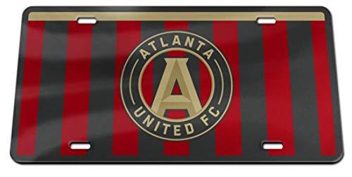 Wincraft MLS Atlanta United Premium Nummernschild, Game Day Stripes Edition - United License Plate Frame