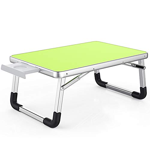 Preisvergleich Produktbild Laptop Schreibtisch 60 * 40cm und 70 * 50 Verstellbarer,  klappbarer Laptop Schreibtischständer,  tragbares Bett Tablett,  grün,  60CM-40CM,  JVCZ