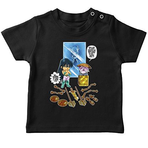 Parodie auf Dragon Shiryu und Libra Dohko von Saint Seiya Baby T-Shirt (733)
