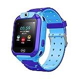 DANGSHUO Kids Smart Watch für Kinder mit LBS Tracker SIM-Karte Anti-Verlorene PAS Anruf Jungen und Mädchen Kompatibel Android iOS Touchscreen Voice Chat Remote Camera D
