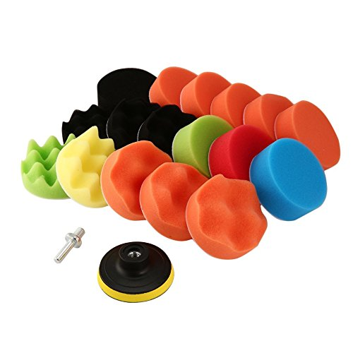 Polierscheiben Wave Polishing Waxing Buffing Pads Kits mit Bohradapter multi colors 3 inch