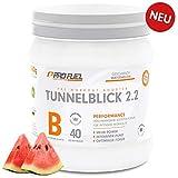 TUNNELBLICK 2.2 | Power • Fokus • Pump | Pre Workout Booster | DAS ORIGINAL von ProFuel ® | mit Guarana, Beta-Alanin & Tyrosin | 360g - 40 Portionen | WATERMELON (Wassermelone)