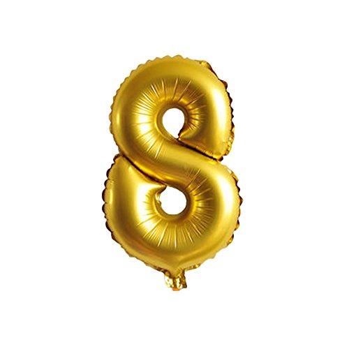 Kicode BigFamily Palloncini digitali 9 numeri disponibili Numero palloncino Oro in alluminio Decorazione di compleanno Nuziale nuziale Partito di Halloween di Chrismas