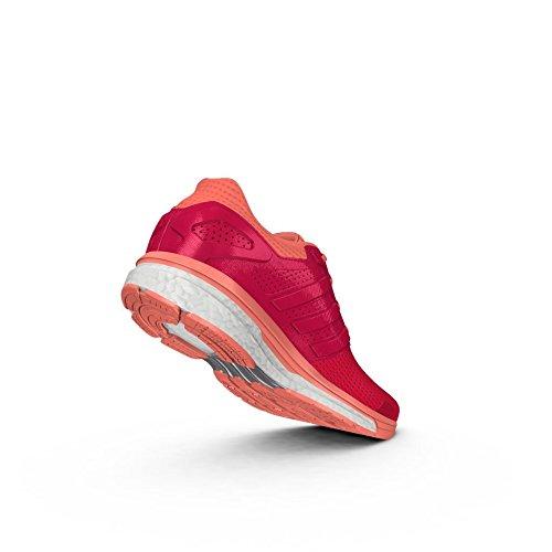 adidas Supernova Glide 8, Femme Chaussures de Running Compétition Naranja/Rojo/Brisol