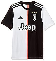 Idea Regalo - adidas Juventus Home Jersey Youth, Maglietta da Calcio A Maniche Corte Bambino, Nero/Bianco, 1112
