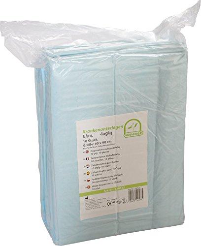 100 Krankenunterlagen Einmalunterlagen Farbe: blau 40 x 60 6 – lagig - 5