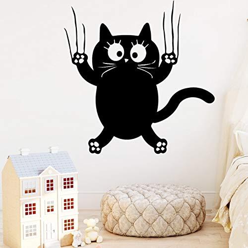 yaonuli Romantische Katze Selbstklebende Vinyl für Kinderzimmer Kinderzimmer Dekoration Home Party Dekoration 45x45cm