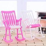 Gankmachine Puppenhaus Möbel Schaukelstuhl Spielzeug für Kleine Keri Puppe zufällige Farbe