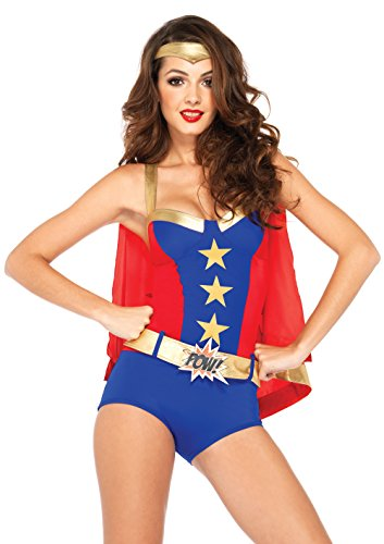 Leg Avenue Déguisement Wonder Woman sexy Nero/Rosso L vita