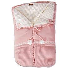 Saco capazo bebe universal de lana -Color rosa maquillaje- Danielstore (20472)