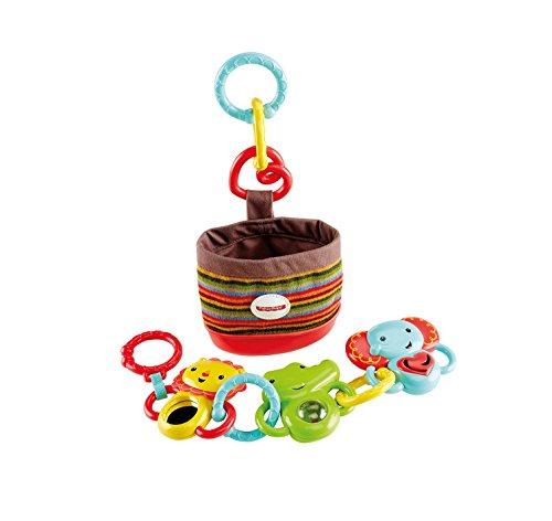 Fisher Price Infant DFP25 - Kit da Passeggio Animaletti Agganciabili, Multicolore