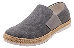 Roadster Mens Grey and Brown Loafers - 8 UK