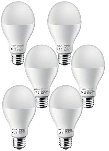 LED FACTORY 10W E27 LED Lampen, Ersatz für 80W Glühlampen, 800lm, Warmweiß, 2800K, 150° Abstrahlwinkel, LED Birnen, LED Leuchtmittel, 6er Pack