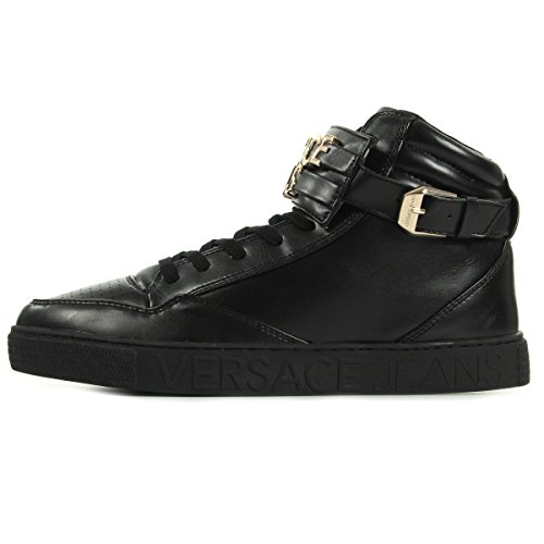Versace Jeans Linea Sneaker Lettering Coating Black E0YOBSE3M27, Scarpe sportive - 43 EU