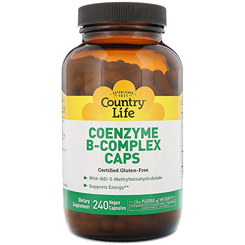Coenzyme B-Complex Caps, 240 Veggie Caps - Country Life - Qty 1 -