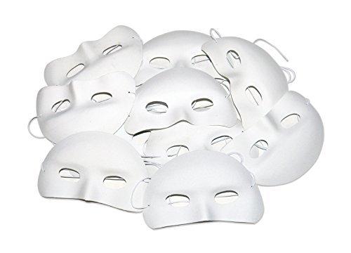 12 Masken, Halbmasken, Flockmaterial, Mit Gummizug. Für Kinder, Elastisch, Muss Faden Sein