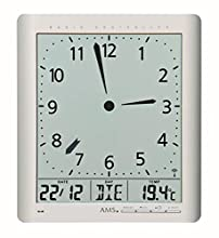 AMS Orologio Analogico-Digitale Unisex 5898, argento, plastica, quadrato