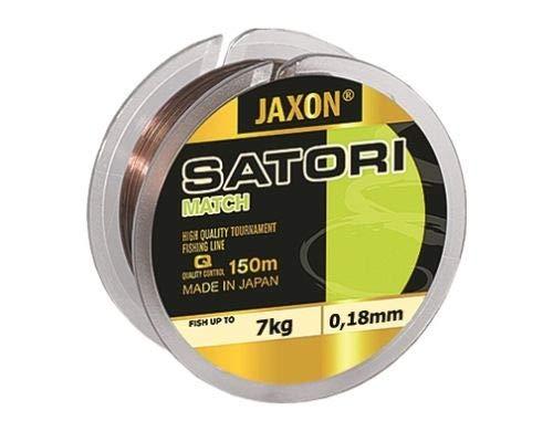 Jaxon Angelschnur Satori Match 150m 0,12mm-0,25mm Spule Monofile Schnur (0,18mm / 7kg)