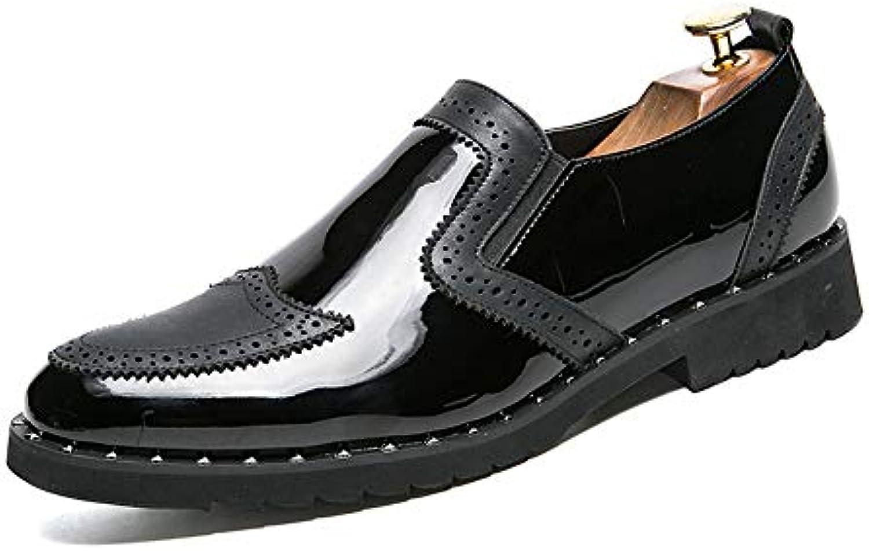 Jiuyue scarpe, 2018 Scarpe da uomo in pelle verniciata