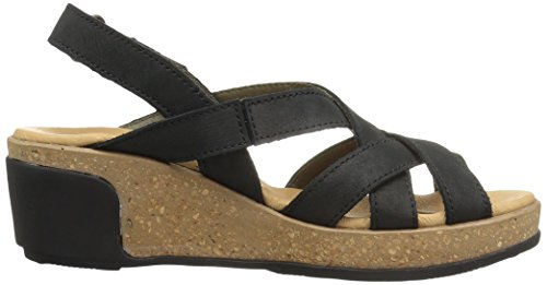 El Naturalista N5002 Pleasant Leaves, Sandali Open Toe Donna Nero (Black)