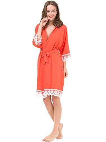 Mr&Mrs Right - Peignoir - Femme Orange Red