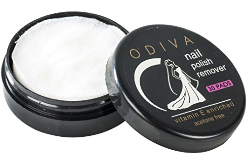 Acetone free, Odiva Nail Polish Remover Wipes Round (1 Pack of 30 Pads each, Total 30 pads) - Removes nail paint color of lakme, revlon, odiva, maybelline, colorama, lotus herbal, nykaa, faces, zoya,