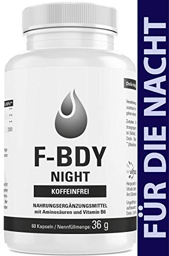 Vihado F-BDY NIGHT, Ohne Koffein, Kapseln für den Fettstoffwechsel, Männer und Frauen, 60 Kapseln