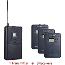 ZLWUS 800R Tour Guide System , UHF794~806MHz Digital AudioGuias y AudioGu¨ªas (1pc Transmisor + 3pc Auricular)Para Ense?anza Visiting and Conference(Gris)