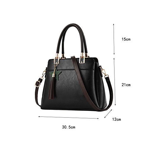 CLOTHES- Borse della signora La nuova Europa ed i sacchetti di spalla della donna di modo degli Stati Uniti borsa del sacchetto del messaggero della pelle molle del sacchetto di grande borsa ( Colore  Nero