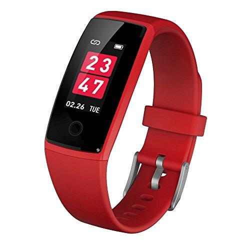 Intelligente Armbandmänner und -frauen wasserdichte Herzfrequenzblutdrucküberwachungsmultifunktionsfarbbildschirm laufende Sportuhr Pacer Android / ios 3 Farbe wahlweise freigestellt ( Farbe : Blau )