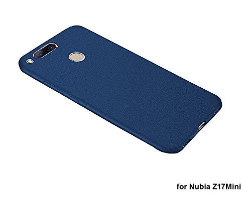 Deesos Nubia Z17 Mini Hülle Ultra Slim Weich TPU Schrubben Kompletter Schutz Gestein Sand Komfortabel Gefühl Hülle für Nubia Z17 Mini Blau