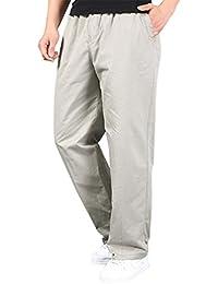 Baymate Hombre Cargo Pantalón Straight Casual Deportivo Pantalones